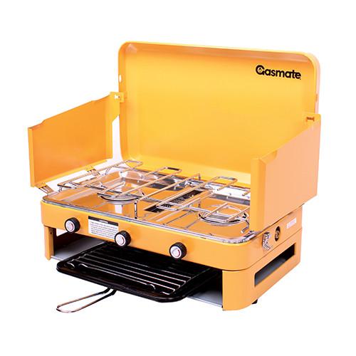 Gasmate 2 Burner LPG Cooker with Grill