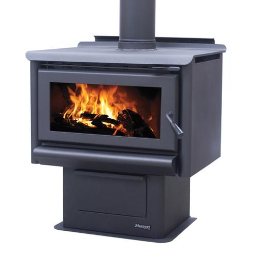 Masport R5000 Freestanding Wood Burner with Pedestal