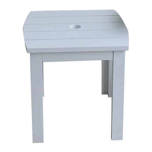 Antique Grey Cape Cod Style Square Table