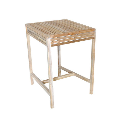 Breeze 80cm Natural Teak Bar Table