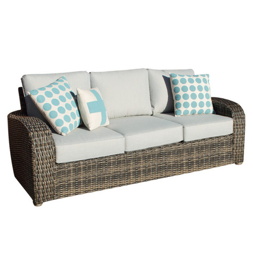 Boca Wicker Three Seater Outdoor Sofa