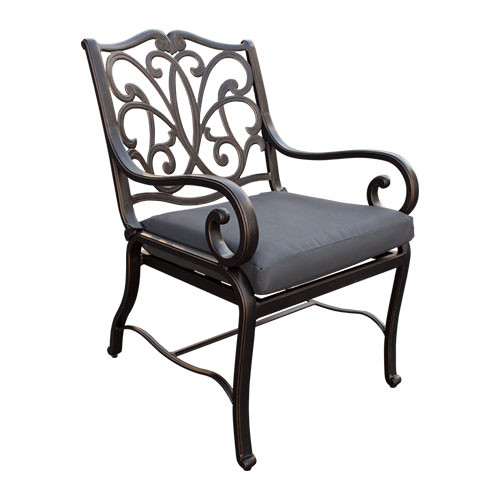 Ketawa Painted Aluminium Fixed Outdoor Chair