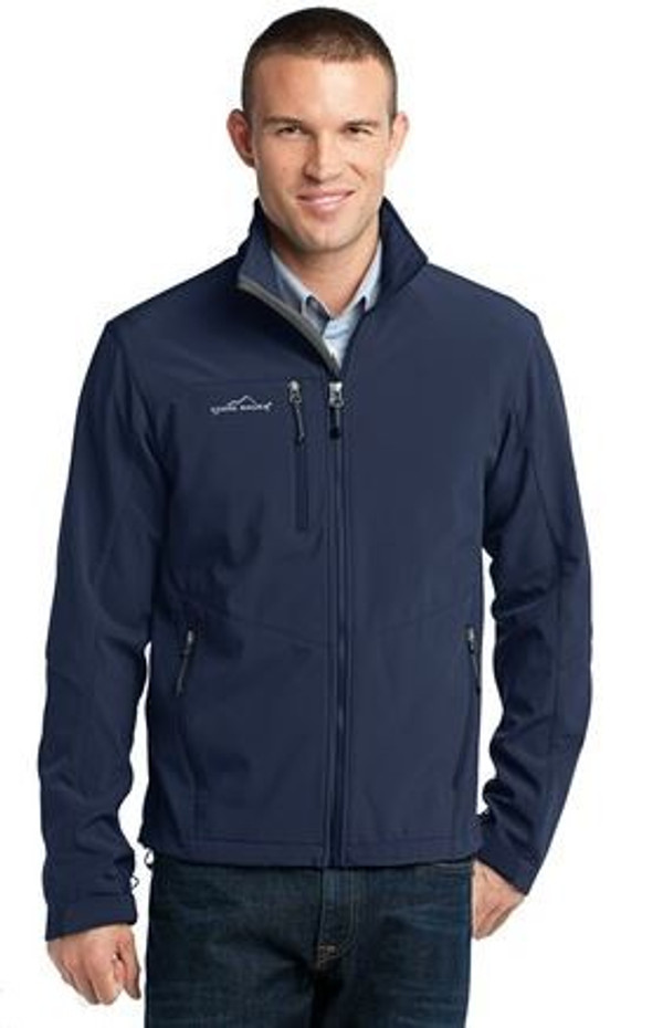 Men's soft-shell fleece jacket branded with CHaSS logo