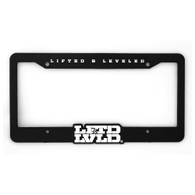 LFTD & LVLD Black License Plate Frame