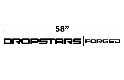 """58"""" Dropstars Forged Door Decal"""