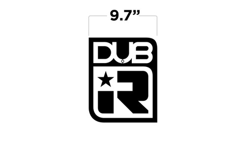 "9.7"" DUB IR Large Decal"