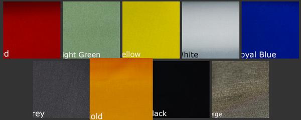 Cordura Colors Options