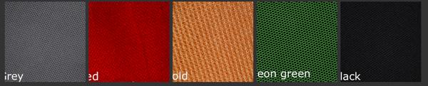 Back Padding Colors Options