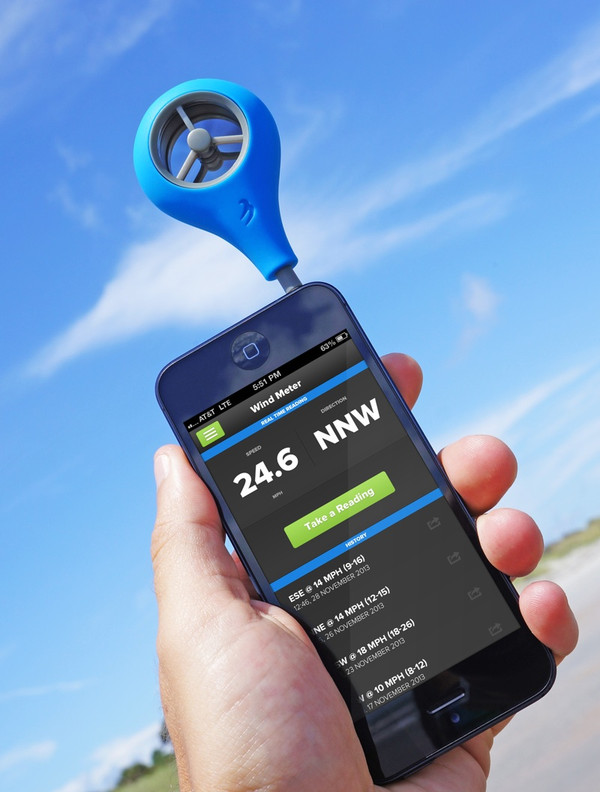 The WeatherFlow Wind Meter - it's an anemometer that fits in your pocket. Download one of our free apps for iOS or Android and plug in your wind meter - it's really that easy.