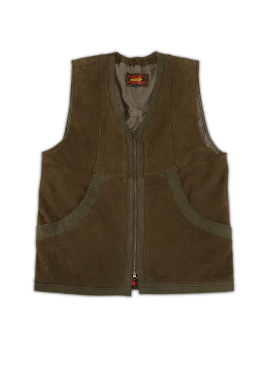 Crossover Nubuck Vest - Brown - 30% OFF