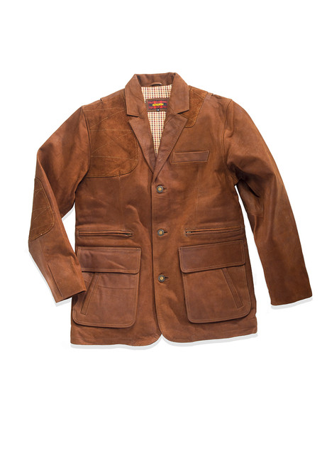 Estate Artemis Waxed Buffalo Sports Jacket - Chestnut - 30% OFF
