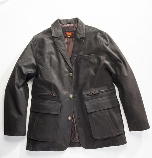 Exventurer Waxed Buffalo Sports Jacket - Black Olive - 30% OFF