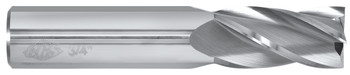4 flute solid carbide end mills are ideal for rough and finish milling in a large range of materials. These end mills can be used in slotting, profile, plunge and side wall milling. Designed with an industry standard 30° degree helix and precision cutting edges these end mills will perform above the competition.