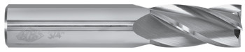 "4FL 30 DEG SQ END MILL 1/2""DIA 1""LOC 3""OAL """