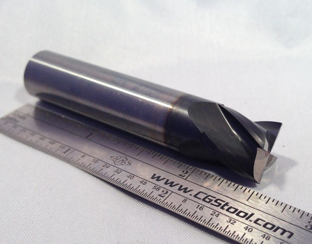 "4 FLUTE - 1/2"" DIAMETER - 30° HELIX - SQUARE END - REFURBISHED END MILLS"