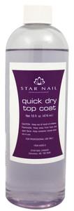 STAR NAIL QUICK DRY TOP COAT, 16 OZ REFILL