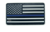 Morale Pvc Patch - U.S. FLAG Black, Grey and Blue