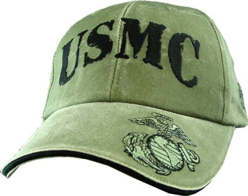 USMC OD Washed Cap