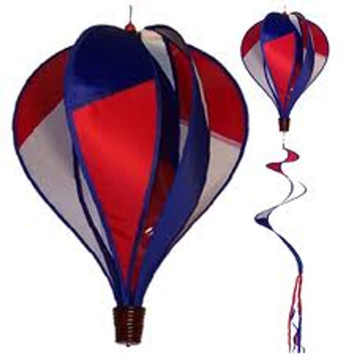 RED, WHITE, AND BLUE HOT AIR BALLOON