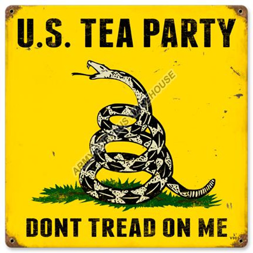 U.S. Tea Party Tin Sign