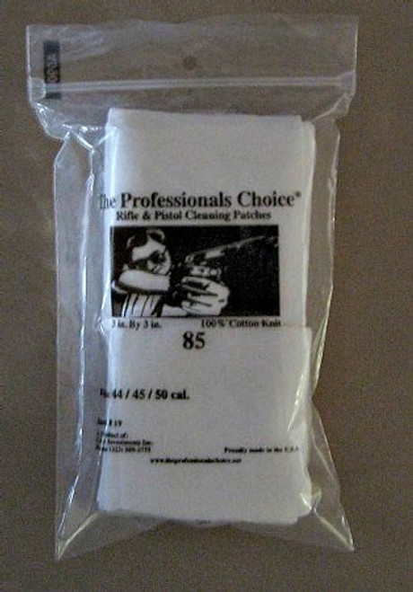 Gun Cleaning Square Knit Patches 44/ 45/ 50 cal 85 pack