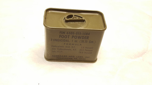 Military GI Issue Foot Powder Vietnam Era