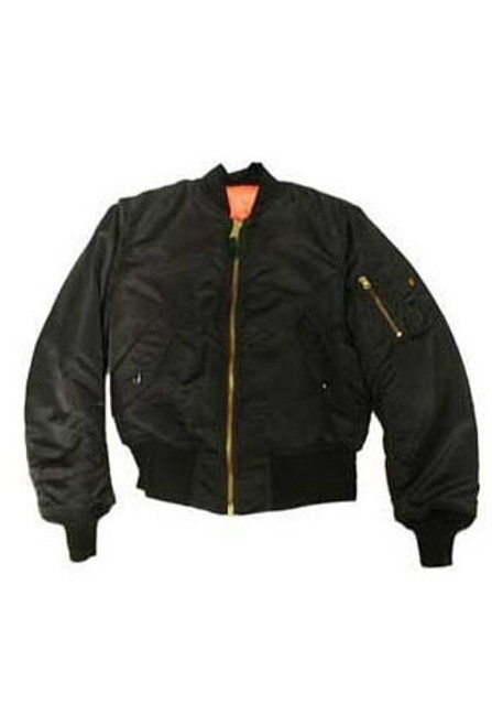 Children's Black MA-1 Flight Jacket