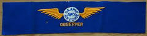 WWII Air Force Observer Armband