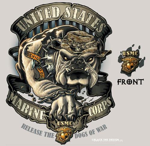 USMC Bulldog T-Shirt Tan