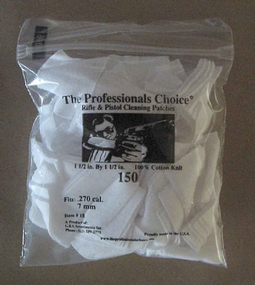 Gun Cleaning Square Knit Patches .270 cal/ 7mm 150 pack