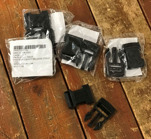 Quick Release Strap Fastener Black 5 pack