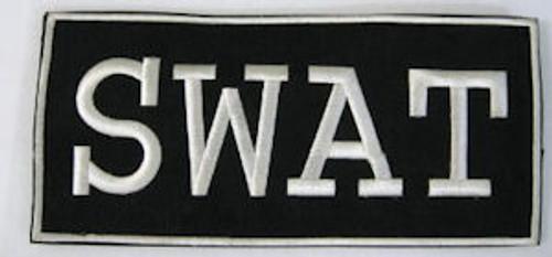 SWAT 2-Piece Law Enforcement Patch Small White Letters