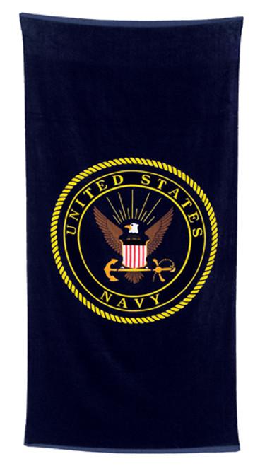 Navy Beach Towel