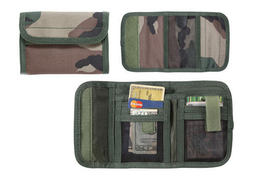DELUXE WOODLAND CAMO TRI-FOLD ID WALLET