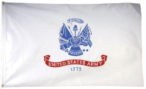 US Army 2 Sided Embroidered Flag 3 x 5