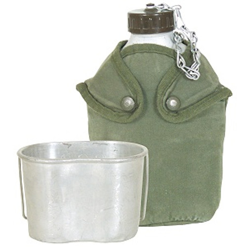 French Army Canteen with Cover and Cup