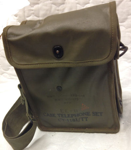 WWII Signal Corps US Army Telephone EE-8/ CY-1181/TT Field Phone with Rubberized Case