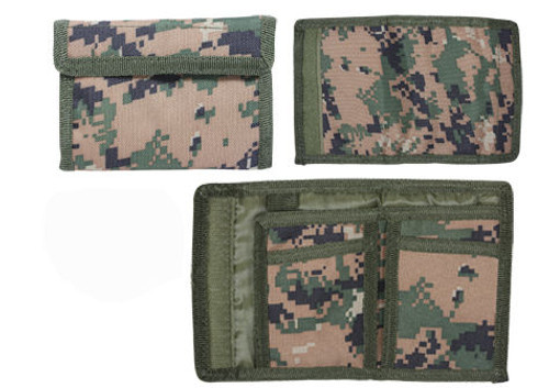WOODLAND DIGITAL NYLON COMMANDO WALLET