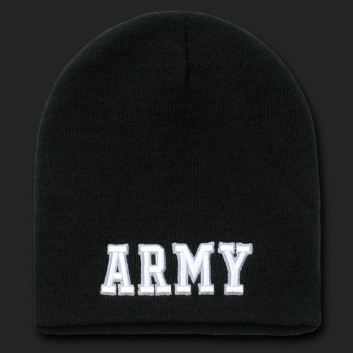 Classic Military Work Beanies Black Army Text
