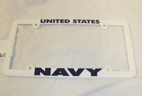 Plastic License Plate Frame NAVY
