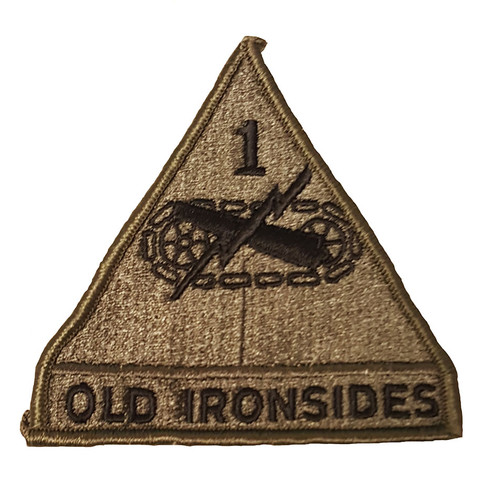 Military Issue 1st Armored Division Old Ironsides Patch OD