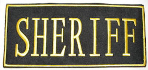 Sheriff 2-Piece Law Enforcement Patch Small Gold Letters