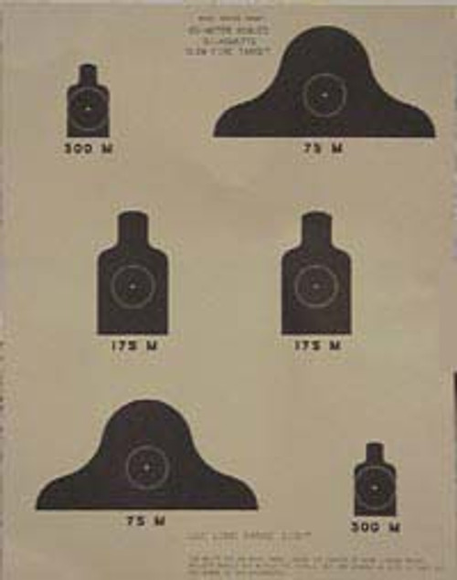 25 Meter Target CASE OF 500