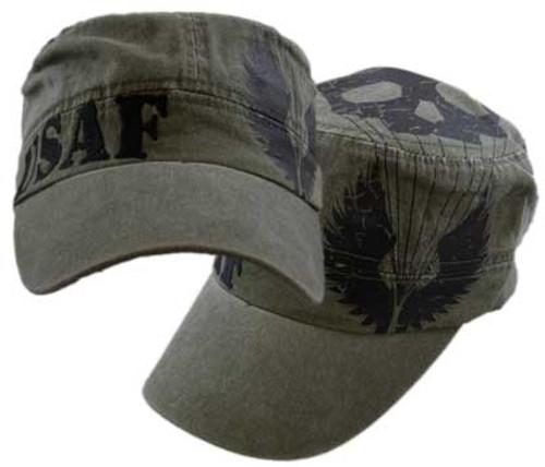 US Air Force  Skull/Wings Flat Top Cap