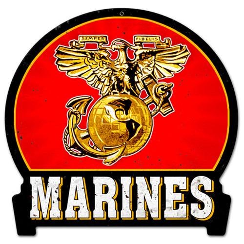 """U.S. Marine Sign - 24 gauge metal 12"""" x 18"""""""