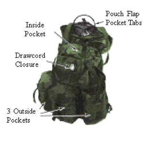 Large Alice Pack With  Frame OD