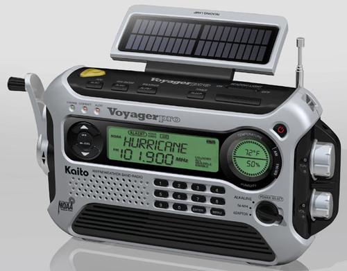 Kaito Voyager Pro KA600 Solar & Crank Weather Alert Multiband Radio