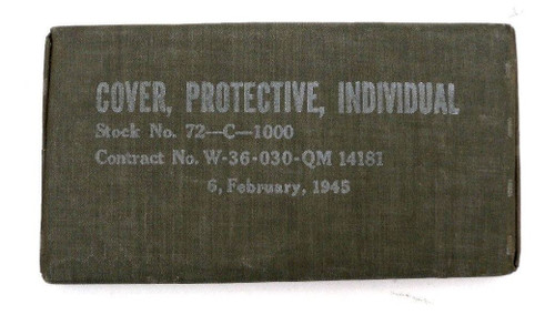 WW2 Blister Gas Cover Protective Individual Dated 1945