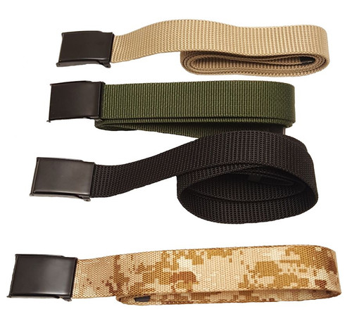 POLY USA MADE WEB BELT WITH FLIP BUCKLE
