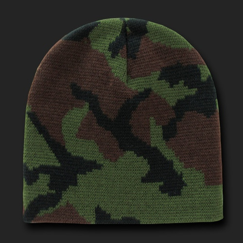 Woodland Camo Beanies, Watch Caps